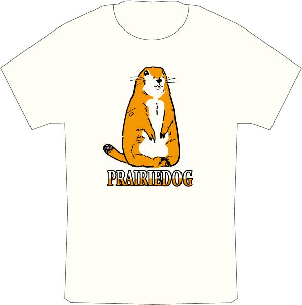 ハンドメイドのプレーリードッグTシャツ
